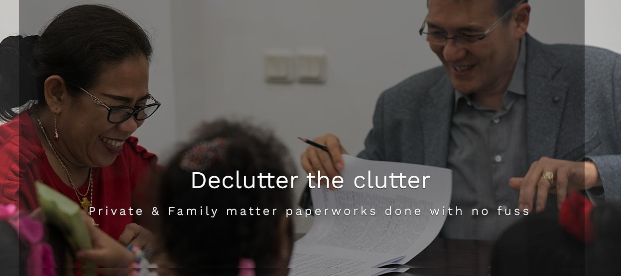 Private & Family matter paperworks done with no fuss